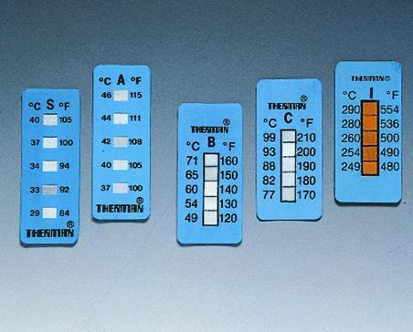 5-step irreversible temperature strips Thermax®