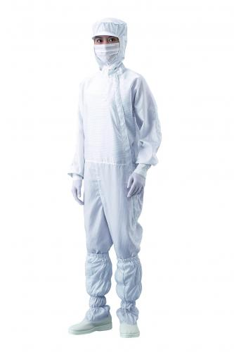 Overall for clean room, lateral zip, polyester