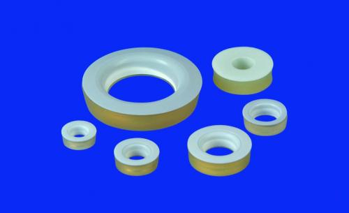 Silicone rubber těsnění, s PTFE washers, silicone rubber (VMQ)